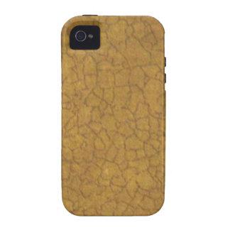 Crujido beige vibe iPhone 4 carcasa