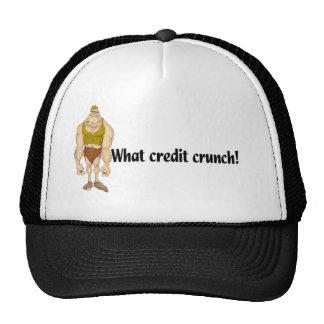 Crujido de crédito gorras de camionero