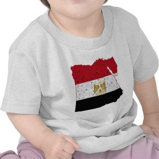 Crujido del mapa de la bandera de Egipto Camiseta