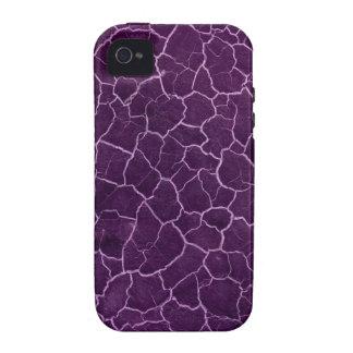 Crujido púrpura iPhone 4/4S carcasa