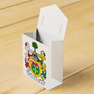 Crum Family Crest Favor Boxes