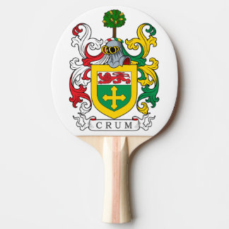Crum Family Crest Ping-Pong Paddle
