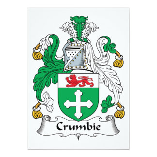 Crumbie Family Crest Card