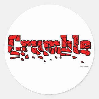 Crumble Classic Round Sticker