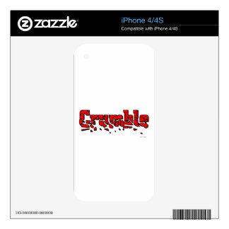 Crumble Skins For iPhone 4