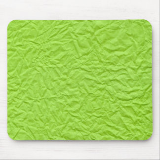 Crumbled Green Paper Mouse Pad