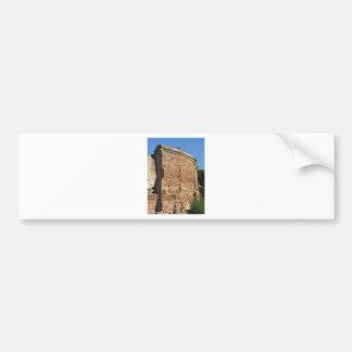 Crumbling brick wall bumper sticker