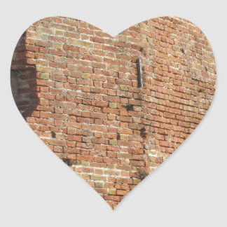 Crumbling brick wall heart sticker