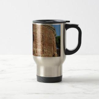 Crumbling brick wall travel mug
