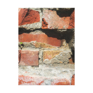 Crumbling Brick Wall Wrapped Canvas