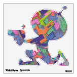 """""""Crumbling City"""" Abstract Art Sm Alien Wall Decal"""