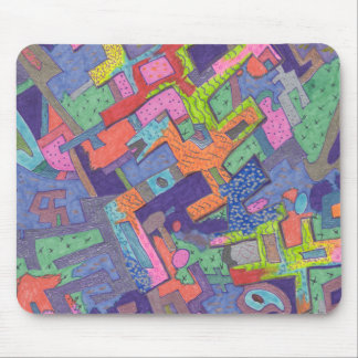 """Crumbling City"" Abstract Mousepad"