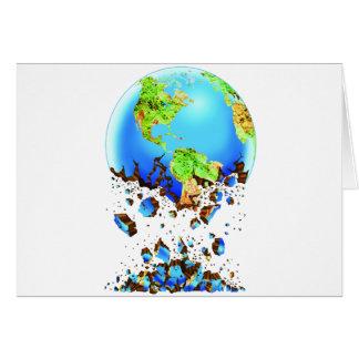 crumbling earth greeting card