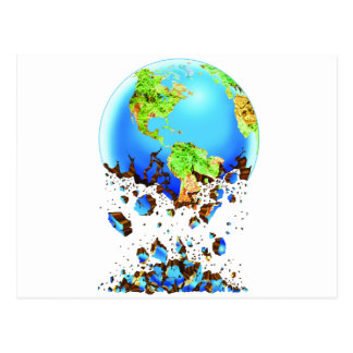 crumbling earth post card