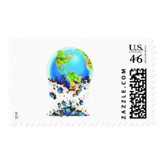 crumbling earth stamp