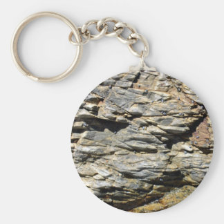 Crumbling Rock Cliff Texture Key Chains