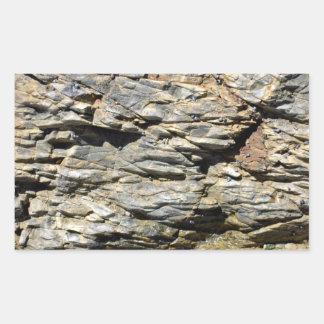 Crumbling Rock Cliff Texture Rectangular Sticker