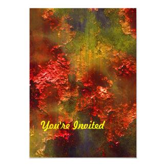 Crumbling Rust in Orange, Green & Gold Card