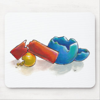 Crumbling, Snapped and Broken unique original art Mouse Pad