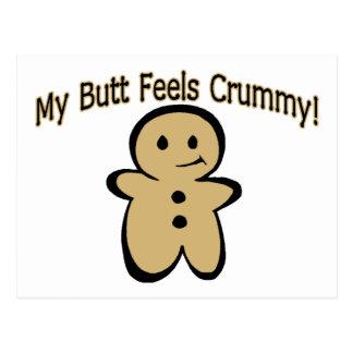 Crummy Butt Cookie Boy Postcard