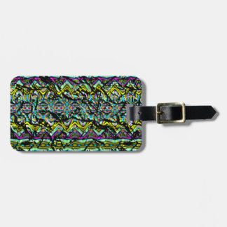 crumpled abstract pattern bag tag