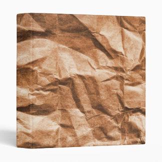 crumpled bag 3 ring binder