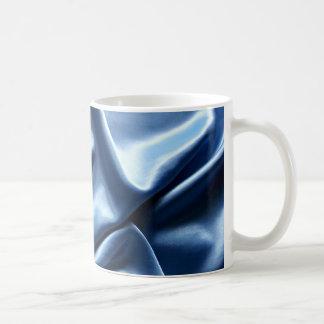 crumpled blue fabric coffee mug