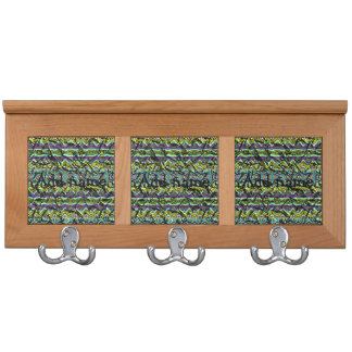 Crumpled colorful pattern coat racks