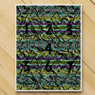 Crumpled colorful pattern countdown calendar