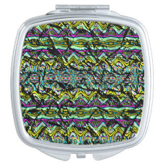 Crumpled colorful pattern mirror for makeup