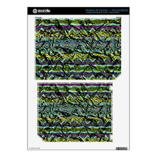 Crumpled colorful pattern nintendo wii skins
