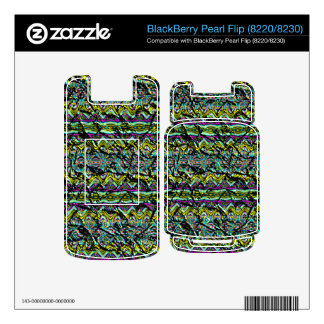 Crumpled colorful pattern BlackBerry decal