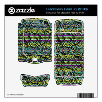 Crumpled colorful pattern skins for BlackBerry