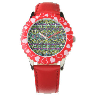 Crumpled colorful pattern wristwatches