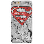 Crumpled Comic Superman Logo Barely There iPhone 6 Plus Case