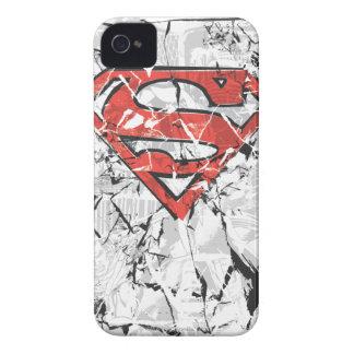 Crumpled Comic Superman Logo Case-Mate iPhone 4 Case