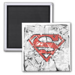 Crumpled Comic Superman Logo Refrigerator Magnet