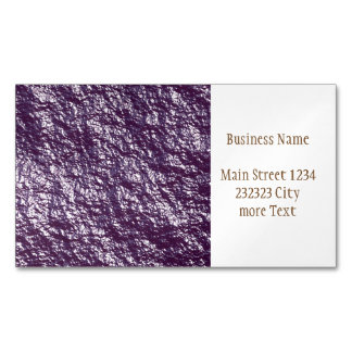 crumpled foil 17F Magnetic Business Card