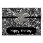 Crumpled Foil Birthday Card