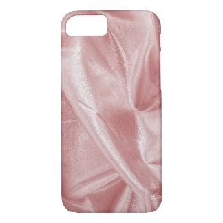 Crumpled Girly Faux Pink Lame' Metallic Fabric iPhone 8/7 Case