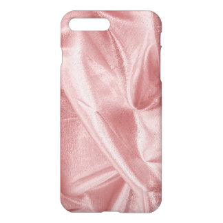 Crumpled Girly Faux Pink Lame' Metallic Fabric iPhone 8 Plus/7 Plus Case