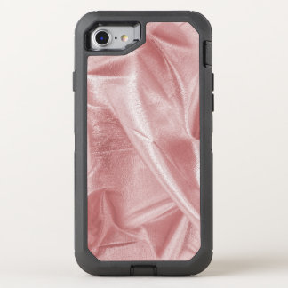 Crumpled Girly Faux Pink Lame' Metallic Fabric OtterBox Defender iPhone 8/7 Case