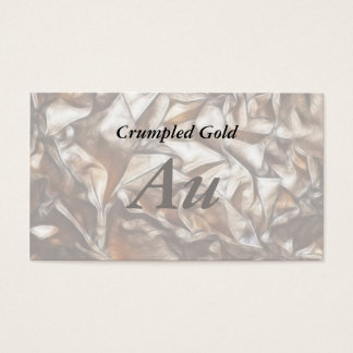 Crumpled Gold Business Card