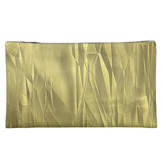 Crumpled Gold Foil Christmas Wrapping Paper Makeup Bag