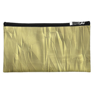 Crumpled Gold Foil Christmas Wrapping Paper Makeup Bags