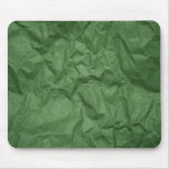 Crumpled Green Paper Texture Mousepad