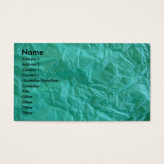Crumpled Green Tissue Paper Business Card