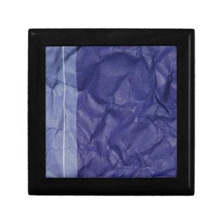 Crumpled indigo paper background design gift box