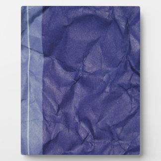 Crumpled indigo paper background design display plaques