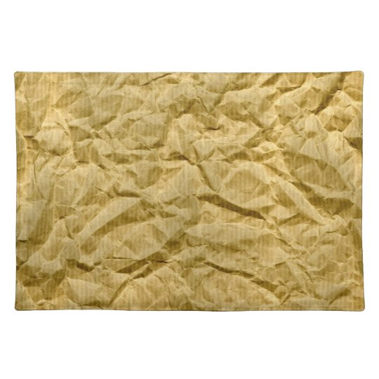 Crumpled Kraft Paper Placemat
